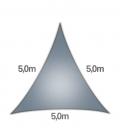 Voile Triangle 5m Commerciale garantie 15 ans 340gr/m² coolaroo slate