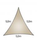 Voile Triangle 5m Commerciale garantie 15 ans 340gr/m² coolaroo beech