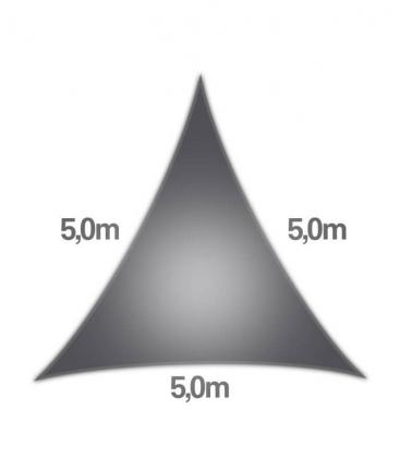 Voile Triangle 5m Commerciale garantie 15 ans 340gr/m² coolaroo graphite