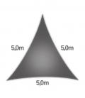 voile nesling triangle 5m densité 285gr en hdpe ajouré qualité premium couleur anthracite
