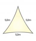 voile nesling triangle 5m densité 285gr en hdpe ajouré qualité premium couleur crème