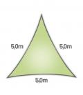 voile nesling triangle 5m densité 285gr en hdpe ajouré qualité premium couleur lemon lime