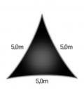 voile nesling triangle 5m densité 285gr en hdpe ajouré qualité premium noir