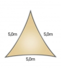 voile nesling triangle 5m densité 285gr en hdpe ajouré qualité premium sable