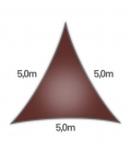 voile nesling triangle 5m densité 285gr en hdpe ajouré qualité premium terracotta