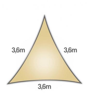 Sail 3,6m Density 285Gr Openwork Brand Nesling Warranty 5 Years Shade Sail Sand