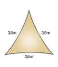 Voile 3,6m Densité 285Gr ajouré marque nesling garantie 5 ans voile d'ombrage sable