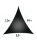 Voile 3,6m Densité 285Gr ajouré marque nesling garantie 5 ans voile d'ombrage noir