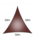 Voile 3,6m Densité 285Gr ajouré marque nesling garantie 5 ans voile d'ombrage terracotta