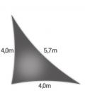 Voile d'ombrage 4x4x5,7m Densité 285Gr triangle rectangle ajouré Nesling coloris anthracite