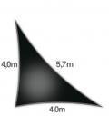Voile d'ombrage 4x4x5,7m Densité 285Gr triangle rectangle ajouré Nesling coloris noir