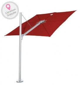 Parasol Premium Umbrosa Spectra Straight Color Pepper Anodized Aluminum Post
