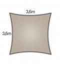 Voile Carré 3,6m Everyday coolaroo qualité 205gr/m² Coloris hêtre beech