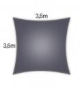 Voile Carré 3,6m Everyday coolaroo qualité 205gr/m² Coloris Graphite
