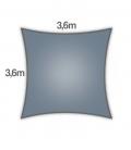 Voile Carré 3,6m Everyday coolaroo qualité 205gr/m² Coloris Slate Ardoise