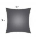 voile ombrage Coolaroo Everyday 3m carré 205gr/m² gamme particulier coloris graphite