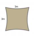 voile ombrage Coolaroo Everyday 3m carré 205gr/m² gamme particulier coloris hêtre beech