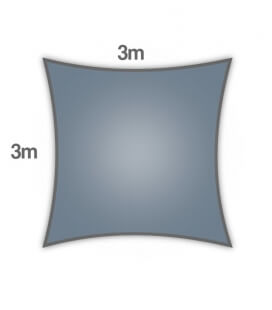 shade sail Coolaroo Everyday 3m square 205gr / m² range particular color slate slate
