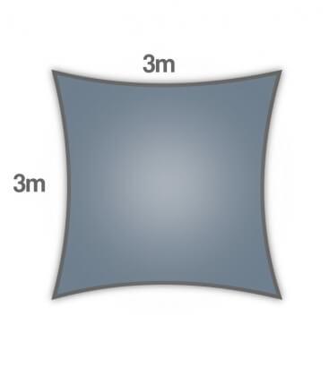 voile ombrage Coolaroo Everyday 3m carré 205gr/m² gamme particulier coloris ardoise slate