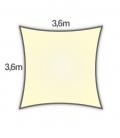Voile d'ombrage 3,6m carré Densité 285Gr Nesling coloris crème
