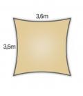 Voile d'ombrage 3,6m carré Densité 285Gr Nesling coloris sable