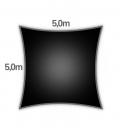 voile d'ombrage Nesling carré hdpe 5m densité 285gr/m² coloris noir