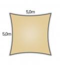 voile d'ombrage Nesling carré hdpe 5m densité 285gr/m² coloris sable