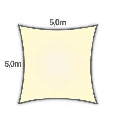 voile d'ombrage Nesling carré hdpe 5m densité 285gr/m² coloris crème