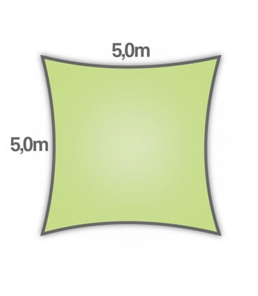 shade sail Nesling square hdpe 5m density 285gr / m² lime green
