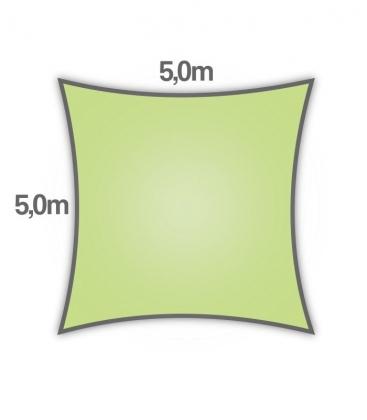 voile d'ombrage Nesling carré hdpe 5m densité 285gr/m² coloris citron vert