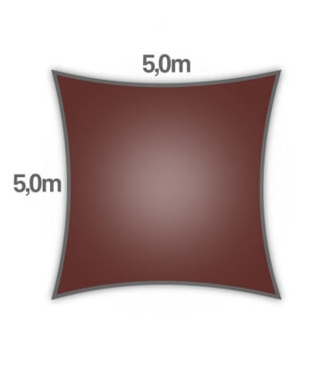 Voile d'ombrage carré 5m Nesling