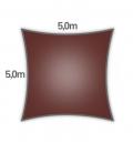 voile d'ombrage Nesling carré hdpe 5m densité 285gr/m² coloris terracotta