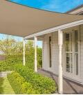 voile d'ombrage Coolaroo Commercial 5,4m carré garantie 15 ans 340gr/m² coloris beech hêtre