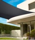 voile d'ombrage Coolaroo Commercial 340gr 5,4m carré garantie 15 ans professionnel coloris hêtre (beech)