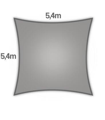 voile d'ombrage Coolaroo Commercial 340gr 5,4m carré garantie 15 ans professionnel coloris pierre (stone)