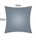 voile d'ombrage Coolaroo Commercial 340gr 5,4m carré garantie 15 ans professionnel coloris ardoise (slate)