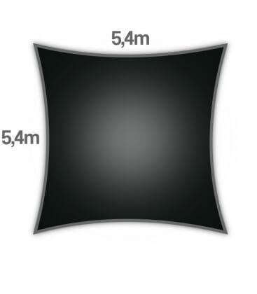 Sail Coolaroo 5.4m square coolaroo openwork hdpe Premium 325gr / m² coal color (charcoal)