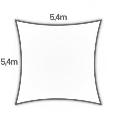 Voile Coolaroo 5.4m carré coolaroo ajouré hdpe Premium 325gr/m² coloris blanc pur (pure-white)