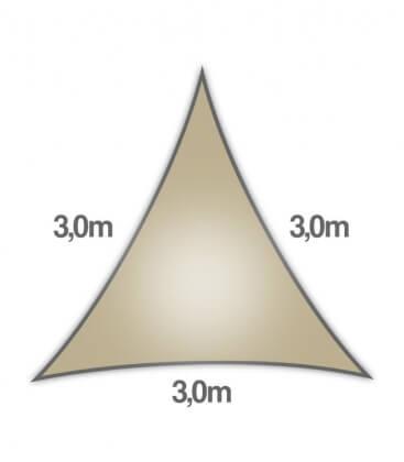 Coolaroo Everyday 3m triangle 205gr/m² qualité particulier 5mm coloris hêtre - beech