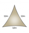 Coolaroo Everyday 3m triangle 205gr/m² qualité particulier 5mm coloris hêtre - beech