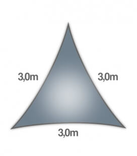 Coolaroo Everyday 3m triangle 205gr / m² particular quality 5mm slate color - slate