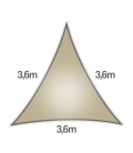 Coolaroo Everyday 3,6m triangle equilatéral 205gr/m² anneau 5mm coloris hêtre beech