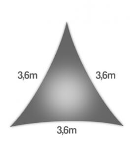 Coolaroo Everyday 3,6m equilateral triangle 205gr / m² ring 5mm graphite color
