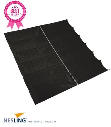 Store bateau Pergola Nesling complet HDPE polyéthylène tressé 285 grammes coloris noir