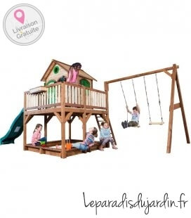 Maisonette sandpit axi Liam + double swing