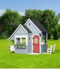 Cabane Enfant Chalet de printemps spring cottage backyard garden en bois exotique non traité