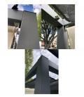 Pergola Alu autoportante complète aluminium Nesling agrandissement des finitions d'angles