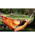 Kocon hammock without wooden bar jobek Sunny color (red and orange)