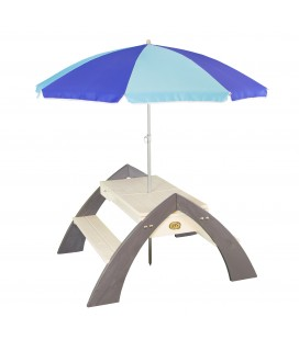 Delta Sand & Water Picnic Table (incl. Parasol)