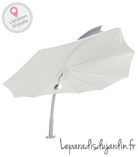 Parasol Icarus by Umbrosa a leaf-shaped umbrella solidum color Canvas storm by leparadisdujardin